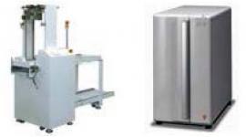 クリーニングユニット付き吸着兼用基板供給装置 EWS23MCCD(左)、微生物感受性分析装置DPS192iX(右)