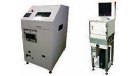 レーザーマーキング装置 LMK08M(左)、異物検証ユニット ECB60MH2(右)