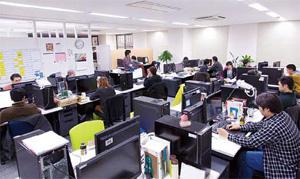 本社の開発室